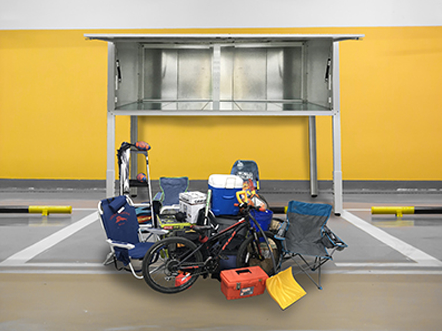 Over-the-car storage solutions with Bradyl Box