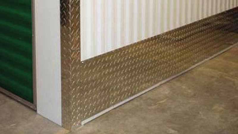 Bradyl Bin Upgrade Options - DiamondPlate Kick Plates & Corner Guard