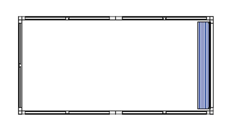 Bradyl Pod (1) 10 x 20 Configuration