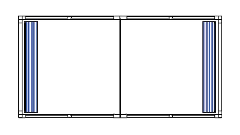 Bradyl Pod (2) 10 x 10 Configuration