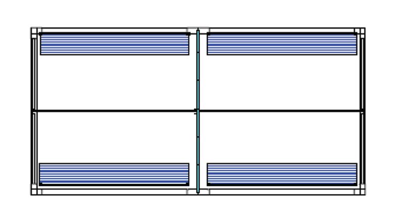 Bradyl Pod (4) 10 x 5 Configuration
