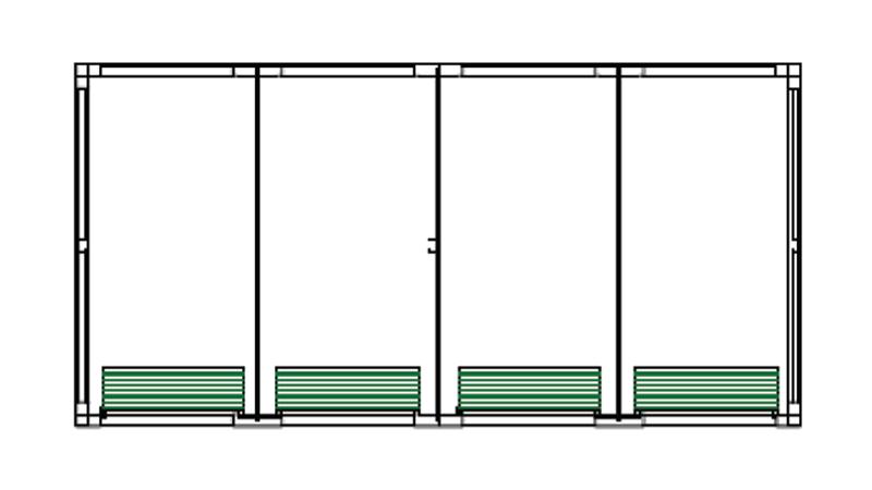 Bradyl Pod (4) 5 x 10 Configuration