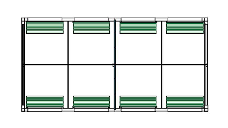 Bradyl Pod (8) 5 x 5 Configuration