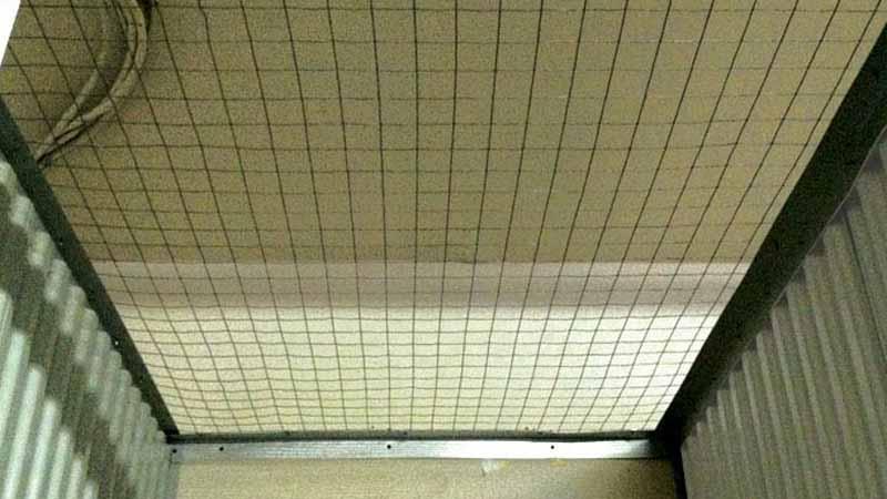 Bradyl Bin Wire Mesh Ceiling